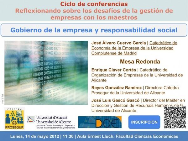 Plantilla invitación seminario Cátedra Prosegur 14-05-2012