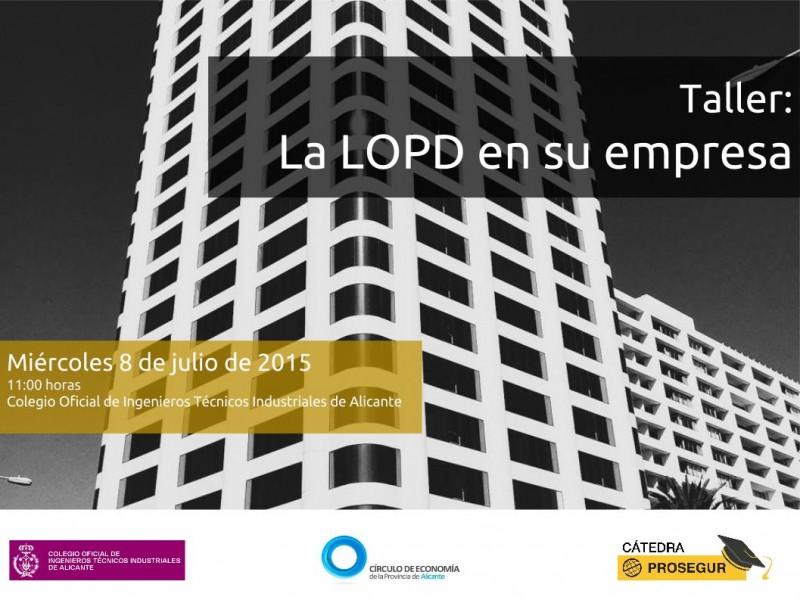 Plantilla la LOPD en tu empresa - 8 de julio 2015