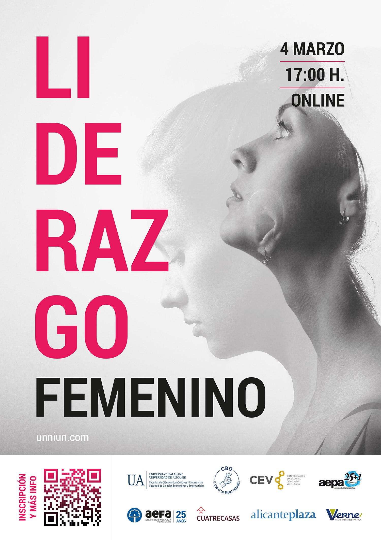 Jueves, 4 de marzo de 2021   17:00 horas   Webinar   Liderazgo Femenino   -  Grupo de Investigación Sistemas de Información y Recursos Humanos en las  OrganizacionesGrupo de Investigación Sistemas de Información y Recursos  Humanos en las Organizaciones